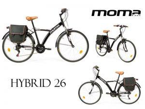 bicicleta trekking moma HYBRID 26
