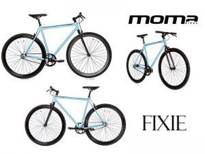 bicicleta moma fixie azul